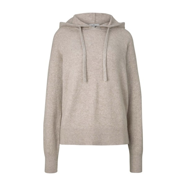 pullover hooded with lurex