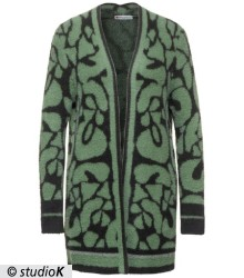 Feinstrick Animal-Cardigan