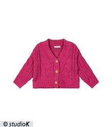 NMFOELLIE LS SHORT KNIT CARD