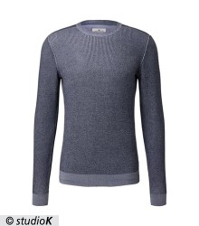 sweater with placed jacquard