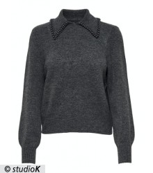 ONLPEARLA L/S POLO PULLOVER KNT
