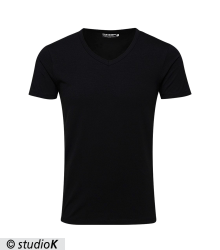 BASIC V-NECK TEE S/S NOOS