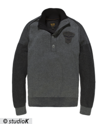 Baumwollpullover - Half button collar Cotton